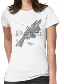 Dubai Map Womens Fitted T-Shirt