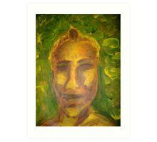 Ian in Yellow (January 2008, Painting, Acrylic on paper) Alison B Allen Art Print