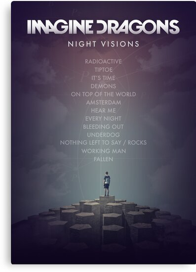 Imagine Dragons - Night Visions Poster by James Frewin