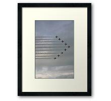 Red Arrows in full flight Framed Print