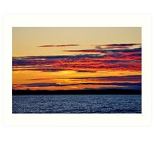 Basking in the Afterglow Art Print