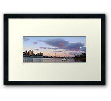 Awaiting The Dawn - Sydney Harbour, Sydney Australia Framed Print