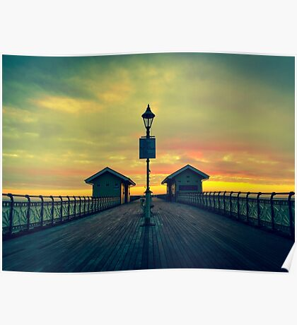Penarth Pier - A touch of colour Poster