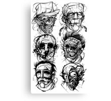 monster mashup Canvas Print