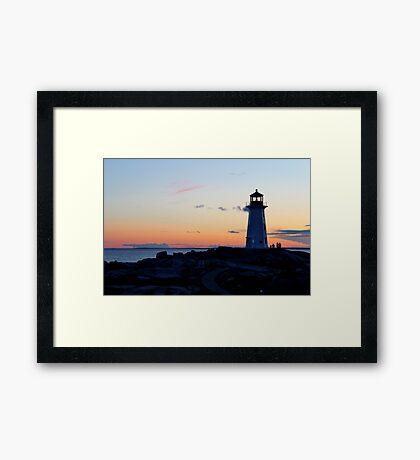 Peggy's Lighthouse Framed Print