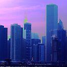 Chicago in Purple Haze by deahna