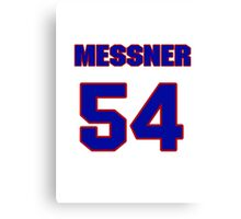 National football player Max Messner jersey 54 Canvas Print