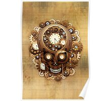 Steampunk Skull Vintage Style Poster