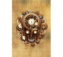 Steampunk Skull Vintage Style Photographic Print