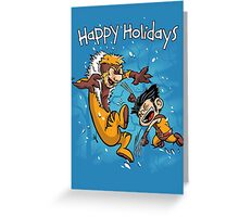Logan and Victor - Happy Holidays card Greeting Card