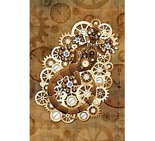 Steampunk Gecko Lizard Vintage Style Photographic Print