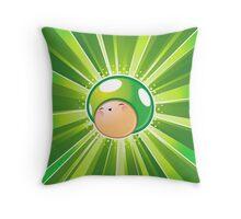 1 Up Mushroom Celebration Throw Pillow