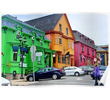 The Colourful Side of Lunenburg Poster