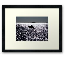 FISHERMAN BOAT SUNSET  Framed Print