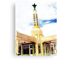 conoco station, route 66, texas Canvas Print