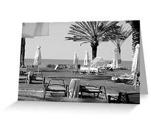 Sun Beds, Cyprus Greeting Card