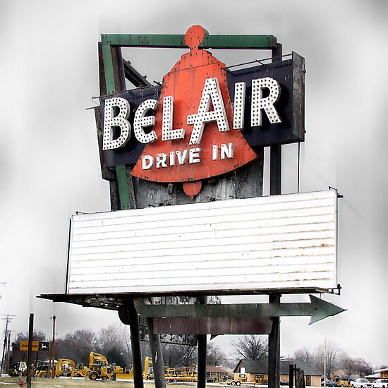 bel air drive-in, route 66, illinois by brian gregory