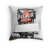 bel air drive-in, route 66, illinois Throw Pillow