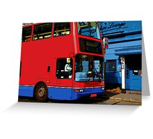 Bus in London Greeting Card