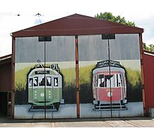 MURAL GRAFFITI TRAIN STATION  Photographic Print