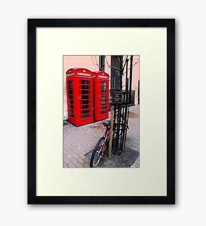 London, Phone box Framed Print