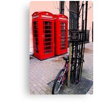 London, Phone box Canvas Print