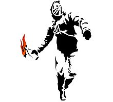 Stencil Rioter Photographic Print