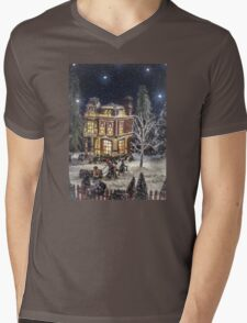 Winter Glow Mens V-Neck T-Shirt