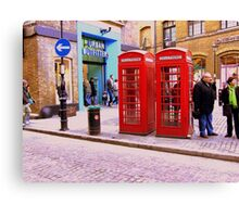Phone Boxes London Canvas Print