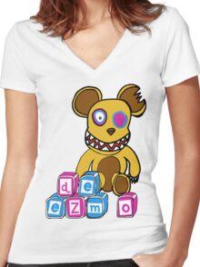 Crazy Nursery Bear Women's Fitted V-Neck T-Shirt
