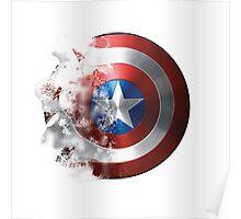 Captain America, Faded shield Poster