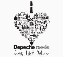 Depeche Mode : I Love DM Just Like Mum - Black Kids Clothes