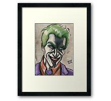 Joker in Ink and Watercolor Framed Print