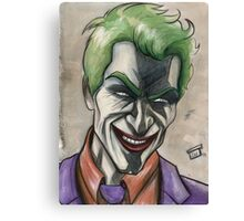 Joker in Ink and Watercolor Canvas Print