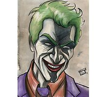 Joker in Ink and Watercolor Photographic Print
