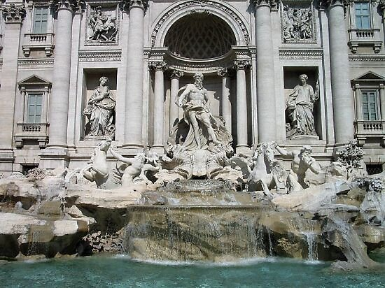 roman fountain of trevi in Italy by chord0