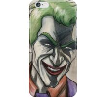 Joker in Ink and Watercolor iPhone Case/Skin