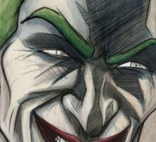 Joker in Ink and Watercolor Sticker
