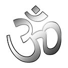 Om also Aum sign into silver metal  by fuxart