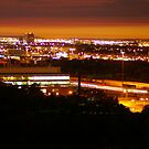 Nite Over Etobicoke Ontario by Larry Llewellyn