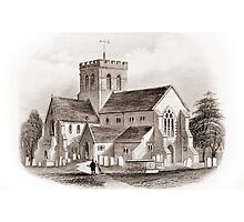 Ref: 25 - Broadwater Church, Broadwater, Worthing, West Sussex. Photographic Print