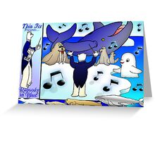 Rap City In Blue Greeting Card