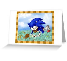 Sonic and the Hedgehog Greeting Card