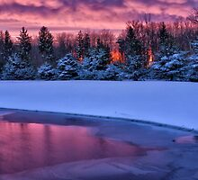 Winter Sunset by Kathy Weaver