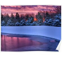 Winter Sunset - Erie, PA Poster