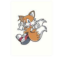 Tails Jumping Art Print