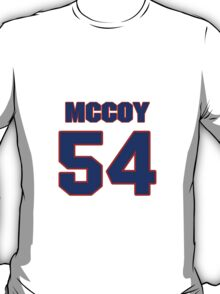National football player Chris McCoy jersey 54 T-Shirt