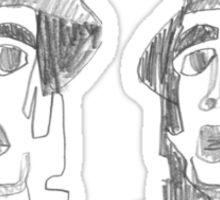 two heads Sticker