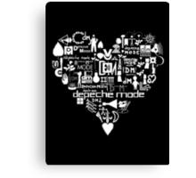 Depeche Mode : I Love DM - White Canvas Print