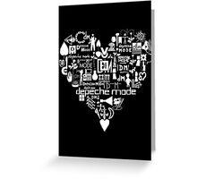 Depeche Mode : I Love DM - White Greeting Card